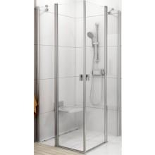 RAVAK CHROME CRV2 90 sprchovací kút 880-900x1950mm rohový satin/transparent