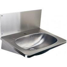 SANELA SLUN02 umývadlo 595x445x377mm, závesné, s otvorom, so zadnou stenou, nerez mat