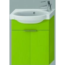 JIKA TIGO skrinka s umývatkom 415x165x535mm s 2 dvierkami, zelená 4.5510.3.021.156.1