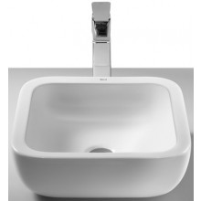 ROCA KHROMA umývadlová misa 400x400mm bez otvoru, s prepadom, biela 7327654000