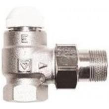 """HERZ TS-E termostatický ventil 3/4"""" plnoprietokový, rohový, pre jednorúrkové a samoťažné sústavy"""