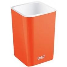 NIMCO ELI pohárik na kefky 75x75x112mm oranžová