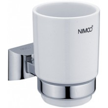 NIMCO PALLAS ATHÉNA držiak s pohárom 84x104x125mm chróm/biela