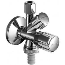 SCHELL COMFORT rohový ventil DN15, kombinovaný, mosadz, chróm