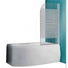 ROLTECHNIK SANIPRO SCREEN vaňová zástena 750x1300mm, obojstranne otvárateľná, biela/potlač