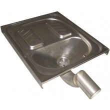 SANELA SLWN07 nášľapné WC 600x700x160mm, nášľapné, k zapusteniu do podlahy, antivandal, nerez