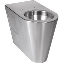SANELA SLWN13 WC 360x700x500mm, na podlahu, pre telesne postihnutých, antivandal, nerez mat