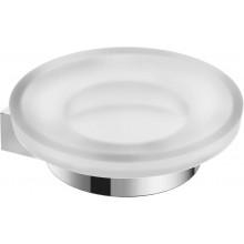 JIKA PURE držiak so sklenenou mydleničkou 112x30mm chróm / matné sklo 3.833B.1.004.000.1