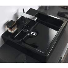 DURAVIT VERO umývadlo 800x470mm s prepadom, čierna/WonderGliss 04548008001