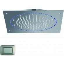 CRISTINA SANDWICH COLOURS sprcha hlavová s osvetlením, Antikalk-system, 270x240mm, light blue