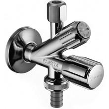 SCHELL kombinovaný rohový ventil DN15, s filtrom, mosadz, chróm