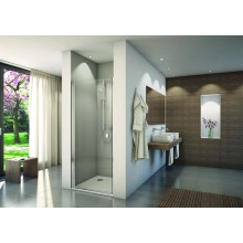 CONCEPT 200 CON1 sprchové dvere 800x2000mm jednokrídlové, aluchrom/číre sklo concept-Clean