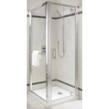 KOLO GEO-6 krídlové pivotové dvere 900x1900mm do niky alebo pre kombináciu s pevnou bočnou stenou alebo rozširovacím panelom, strieborná lesklá/číre sklo