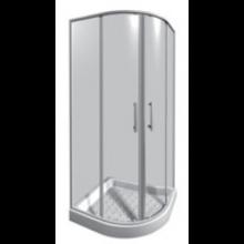 JIKA LYRA PLUS sprchovací kút 900x900x1900mm štvrťkruh, stripy 2.5338.2.000.665.1