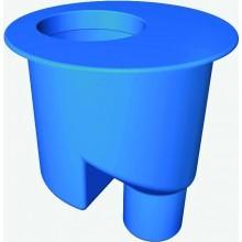 CONCEPT 200 sifón vertikálny DN50, 1,3 l/s, odnímateľná zápachová uzávierka, bočný odpad