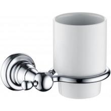 HERITAGE HOLBORN pohárik 95mm s nástenným držiakom, chróm/porcelán