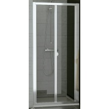 SANSWISS TOP LINE TOPK sprchové dvere 900x1900mm, zalamovacie, matný elox/sklo Durlux