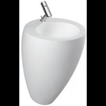 LAUFEN IL BAGNO ALESSI ONE umývadlo 520x530x850mm s integrovaným stĺpom, bez otvoru, biela LCC 8.1197.1.400.109.1