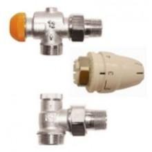 HERZ PICOLLO K set termostatickej hlavice M28x1,5 s ventilmi, pre dvojrúrkové systémy