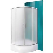 ROLTECHNIK PORTLAND NEO/900 sprchový kút 900x1650mm R550 štvrťkruh, s posuvnými dverami, brillant/matt glass