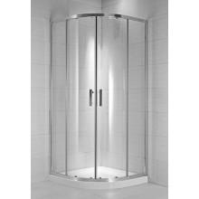 JIKA CUBITO PURE sprchovací kút 800x800x1950mm štvordielny, štvrťkruhový, transparentná 2.5324.1.002.668.1