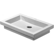 DURAVIT 2ND FLOOR umývadlo 580x415mm vstavané bez prepadu, biela/WonderGliss 03175800291