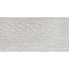 REFIN ARTE PURA dekor 37,5x75cm rilievo bianco