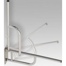 AZP BRNO REHA sklopný úchyt 760x100x250mm, lakovaná oceľ, biela