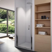 SANSWISS SWING-LINE SL1 sprchové dvere 900x1950mm, jednokrídlové, aluchrom/číre sklo Aquaperle
