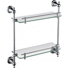 HERITAGE HOLBORN sklenená polička 410x425mm dvojitá, sklo/chróm