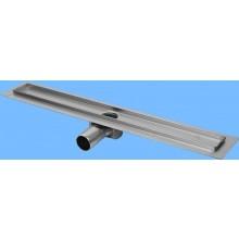 CONCEPT 50 podlahový žľab 985mm, s horizontálnou prírubou, nerez oceľ