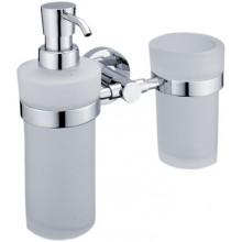 NIMCO UNIX dávkovač tekutého mydla a držiak s pohárom 195x190x101mm chróm
