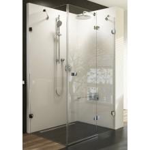 RAVAK BRILLIANT BSDPS-100R sprchové dvere 1000x1000x1950mm s pevnou stenou, pravé, chróm/transparent