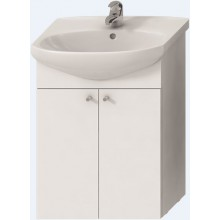 EASY PACK skrinka pod umývadlo 514x315x695mm, s 2 dverami, vrátane umývadla, biela