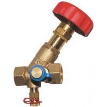 HERZ STRÖMAX-M regulačný ventil DN25 šikmý, s meracími ventilčekmi, pre meranie tlakovej diferencie