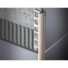CELOX profil oblý 10mm/2,5m, s nosom, ukončovací, PVC, šedý