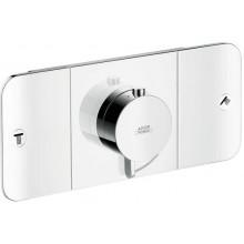 AXOR ONE termostatická batéria 270x120mm podomietková, pre 2 spotrebiče, chróm