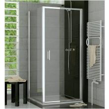 SANSWISS TOP LINE TOPP sprchové dvere 900x1900mm, jednokrídlové, matný elox/číre sklo Aquaperle