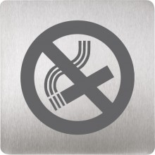 SANELA SLZN44F piktogram zákaz fajčenia 120x120mm, nerez mat