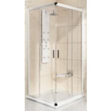 RAVAK BLIX BLRV2-90 sprchovací kút 900x900x1900mm rohový, posuvný, štvordielny satin/transparent