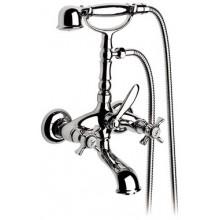 ROCA FLORENTINA vaňová nástenná kohútiková batéria so sprchou, hadicou a držiakom chróm 75062221A0