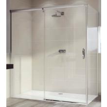 HÜPPE AURA ELEGANCE SW 900 bočná stena 900x1900mm pre posuvné dvere 1-dielne s pevným segmentom, 4-uholník, biela/sklo číra Anti-Plague