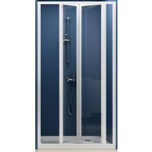 RAVAK SUPERNOVA SDZ3 90 sprchové dvere 870x910x1850mm trojdielne, zalamovacie, biela / grape 02V70100ZG