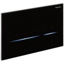 GEBERIT ovládanie WC Sigma 80, 24,7x16,4cm, elektronické, napájanie zo siete, sklo čierne