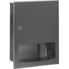 SANELA SLZN56Z zásobník papierových uterákov, na montáž pod omietku, antivandal, nerez mat