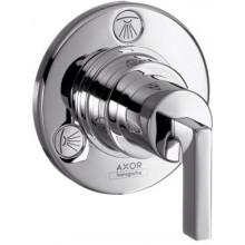 AXOR CITTERIO TRIO/QUATTRO ventil uzatvárací a prepínací podomietkový s páčkou chróm