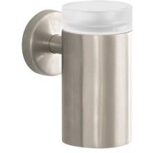 HANSGROHE LOGIS pohár na ústnu hygienu 126mm, kartáčovaný nikel/sklo