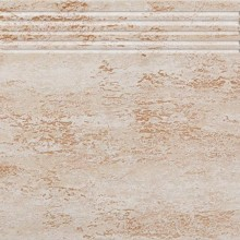 RAKO TRAVERTIN schodovka 30x30cm, béžová