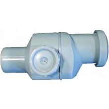 HL spätná armatúra DN50, s viečkom pre kontrolu, polypropylén