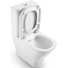 ROCA THE GAP RIMLESS WC misa kapotovaná kombi Compact 365x790mm hlboké splachovanie, vario odpad, biela 734273700H